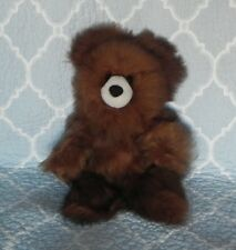 New 100% Baby Alpaca 12� Teddy Bear Fluffy Soft Cuddly Brown Classy