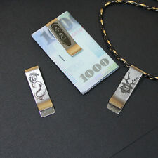 Money Clip 3-pc Samurai paper clip filing Japanese culture engraving details