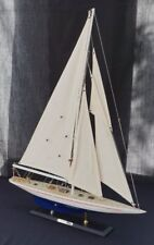 Detailed wooden display model J Class America's cup yacht Enterprise