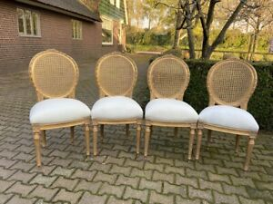 Set of 4 new chairs in French Louis XVI style. Worldwide shipping