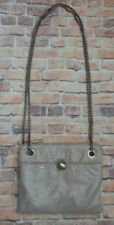 MANGO MNG Party Beige Chain Clutch Crossbody Purse Shoulder Bag mesh