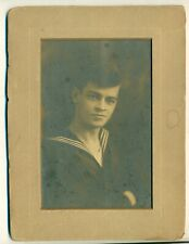 cabinet photo handsome young sailor uniform w/dark hollywood eyes gay interest