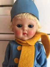 Vintage Vogue Ginny Doll Dutch Boy Blonde Strung Painted Lash 1950s