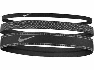 Nike mixed 3pk Width hair band headband black silver