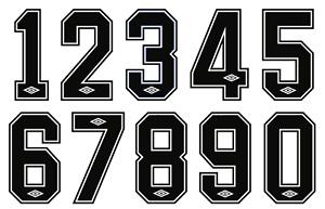 Vinyl 1980's Football Shirt Soccer Numbers Umbro Print Football Vintage Premier