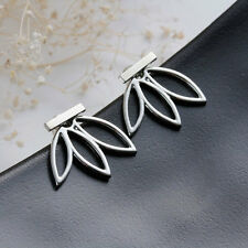 Fashion Women Lady Lotus Flower Earrings Ear Hook Stud Jewelry Gift