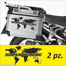 2 Adesivi Planisfero Moto Super Ten Valigie GIVI Trekker Outback Adventure Centr