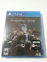 Middle-earth: Shadow of War PS4 Game (Sony PlayStation 4, 2017) BRAND NEW
