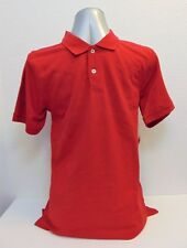 Boys Red Solid Polo Shirt Size XXL (18) 100% Cotton