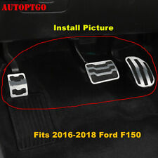 No Drill Gas Brake Foot Pedal Pad Cover Kit For 2016 2017 2018 Ford F150 Raptor