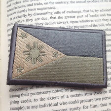 Philippines FLAG ARMY TACTICAL MILITARY EMBROIDERED MORALE BADGE PATCH