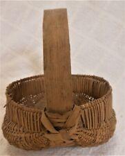 New ListingGood 19th Century Miniature Splint Buttocks Basket