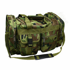 "17"" Camo Duffle Style Range Bag - Shooting Gun Hunting Carry On  - w/ Padded Lid"
