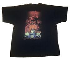 Vintage 90s Rurouni Kenshin T Shirt Black Samurai X Japanese Anime Manga Bandai