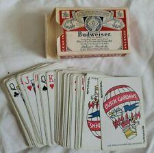 Vintage Budweiser Bridge Playing Cards Budweiser Beer~Busch Gardens Jokers