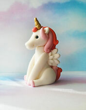 Fondant Unicorn Whimsical Fantasy Cake Topper - Unicorn