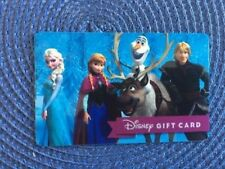 Frozen Disney gift card collectible only-  no $ value or points on it