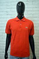 Polo LACOSTE Maglia Uomo Maglietta Taglia L Shirt Manica Corta Cotone Rossa Man