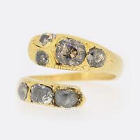 Gold Diamond Ring- 19th Century 1.65 Carat Diamond Snake Ring 22ct Yellow Gold