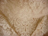 13-1/4Y Kravet Couture 24354 Limoges Pongee Sesame Silk Damask Upholstery Fabric