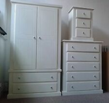 HAND MADE BERKELEY WHITE 3 PIECE BEDROOM SET (NO FLATPACKS) READY ASSEMBLED