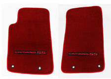 NEW RED Carpet Floor Mats 2010-2015 Camaro Embroidered Logo and SS in Red Set 2