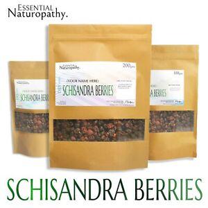 SCHISANDRA BERRY / BERRIES DRIED Certified Organic (Schisandra chinensis)PREMIUM