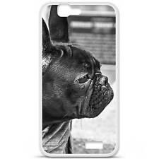 Coque housse étui tpu gel motif bulldog Huawei Ascend G7