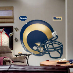 """St. Louis Rams FATHEAD Throwback Helmet FULL SIZE 4'9"""" x 4'3"""" NFL Wall Graphics"""