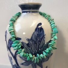 """Chip Beads Matte Finish 9.75"""" Handmade Ankle Bracelet Green Dyed Magnesite"""