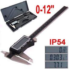 "12"" DIGITAL ELECTRONIC CALIPER LARGE LCD X-PRECISION INCH METRIC FRACTION 1/128"