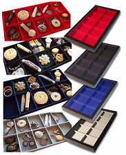 1 Glass Display Case Black 10 Division Badges Watches Jewellery WW1 WW2 Buckle