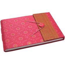 Fair Trade Handmade Medium Sari Photo Album Scrapbook Pink
