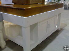 IHR Aust Made prep ISLAND BENCH 4 CUPBOARDS Butchers block side grain MASTERCHEF