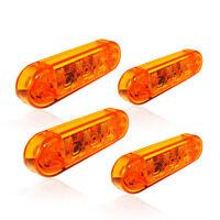 4 x 3LED Begrenzungsleuchte 24V / 0,4W LKW Seitenmarkeirungsleuchte Orange