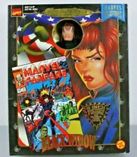"Marvel Famous Covers Series BLACK WIDOW 8"" Action Figure - Toy Biz 1998"