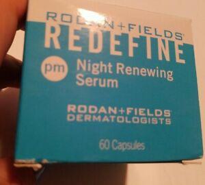 NEW Rodan + Fields Redefine Night Renewing Serum PM 60 Capsules in box♡♡