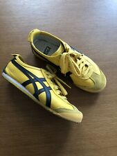 Asics Onitsuka Tiger MEXICO 66 Yellow Black DL408 0490 Shoes Sneakers
