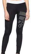 Adidas alphaskin deporte largo negro/Blanco Medias señoras UK Size 6 (XS) * Ref. 130 *