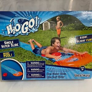Inflatable Water Slide H2O to Go Summer Fun Single Slider path 18 ft long