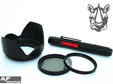 FP7u UV CPL Filter + Lens Hood + LensPen for Panasonic DMC FZ70 DMC FZ72 Camera