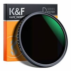 K&F Concept ND8-ND2000 Lens Filter Variable 40.5/49/52/55/58/62/67/72/77/82m