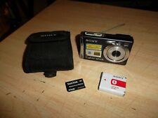 SONY CYBER-SHOT DSC-W100 8.1MP DIGITAL CAMERA - CASE,BATTERY,4GB M-CARD BUNDLE.