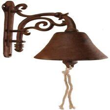 Cast Iron Door Bell Hanging Bracket Gate Garden Ornament Esschert Design DB40