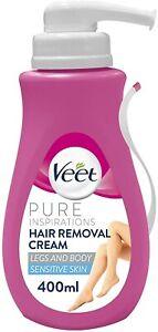 Veet Hair Removal Cream for Sensitive Skin, 400 ml