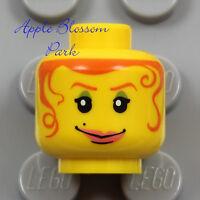 NEW Lego Female MINIFIG HEAD Diva Princess Girl Hair Tendrils Green Eyes Shadow