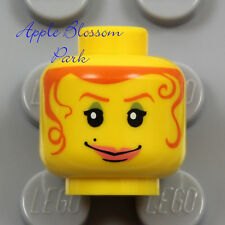 NEW Lego Female MINIFIG HEAD Diva Princess Girl Hair Tendrils Green Eyes Shadow