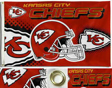 Kansas City Chiefs Helmet Logo Flag Large 3'X5' NFL FREE SHIPPING