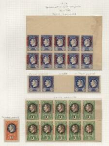 MONTENEGRO: 1916 Overprints - Ex-Old Time Collection - Album Page (41213)