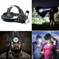 Powerful T6 LED Zoomable Headlamp USB Rechargeable 18650 Headlight Head Torch US
